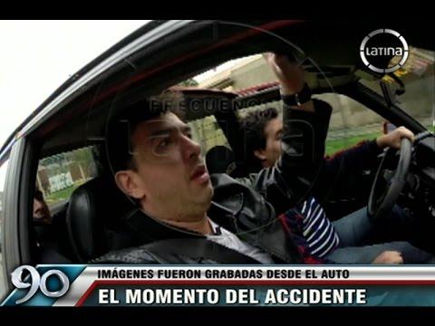 Video capturó preciso momento del accidente vehicular de Farid Ode