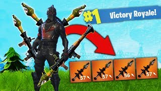 The QUAD Rocket Strategy - WORLD RECORD GAME! [Fortnite]