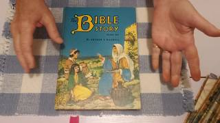 Thrifted Vintage Treasures - Children's Bible Story Books With a Copyright of 1958 They Look New