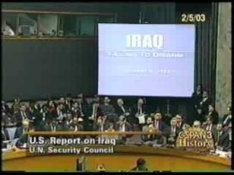 Archive: Colin Powell's UN Presentation on Iraq WMD pt 1