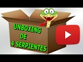 unboxing video de 4 Serpientes Del Maiz (cornsnakes)