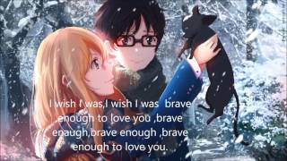 Brave enough-nightcore-lyrics