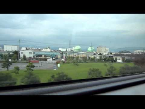 The Shinkansen 新幹線 (Bullet Train) on board, Kyoto to Tokyo HD