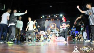 Reckless Gang vs. East Side Bboys | Burn Battle School 2012