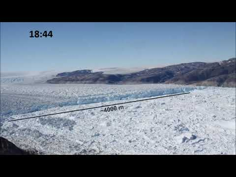 Major Glacier Calving Captured In Time-lapse Video