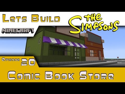 Minecraft :: Springfield Lets Build :: Comic Book Store :: E20