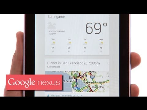 Nexus 7 (2012) - Google Now