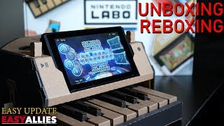 Unboxing and Reboxing the Nintendo Labo Piano! - Easy Update
