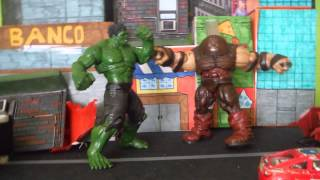 Juggernaut vs Hulk stop motion