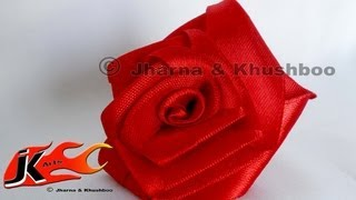 Diy - How To Make  Flower From Satin Ribbon - Jk Arts