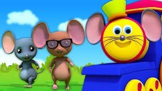 Three Blind Mice    Nursery Rhymes For Kids   Bob the Train Cartoons
