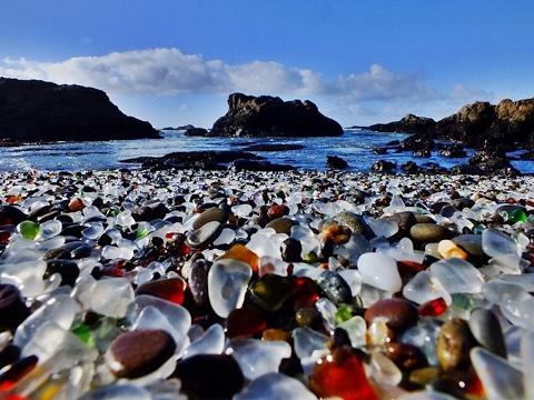 La playa de cristal