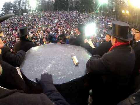 Groundhog Day 2013 Inner Circle View Hat Cam