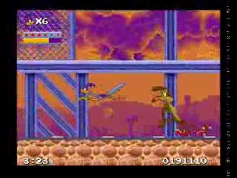Road Runner's Death Valley Rally SNES all flags