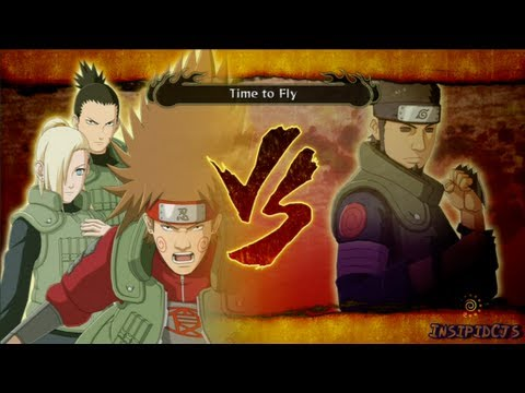 Naruto Ultimate Ninja Storm 3 Choji (Ino and Shikamaru) Vs Asuma S-Rank (English)