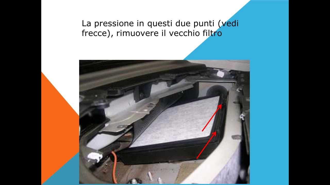 Tutorial come sostituire il filtro abitacolo for Filtro aria abitacolo lexus es 350 2012