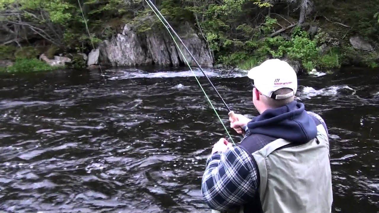 Atlantic salmon fishing in newfoundland labrador youtube for Fishing license for disabled person