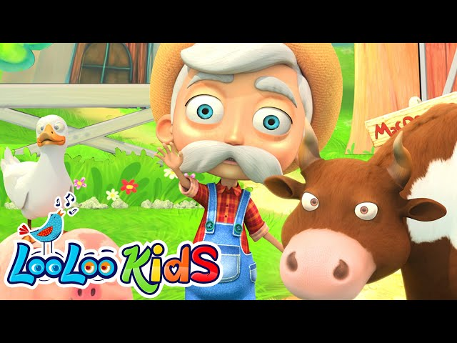 👨🏻🌾 Old MacDonald Had A Farm 🚜 THE BEST Song for Children   LooLoo Kids thumbnail