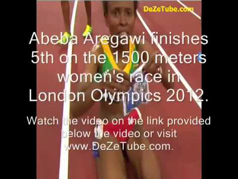 Abeba Aregawi   1500 meters womens final race in London Olympics, Friday August 10, 2012