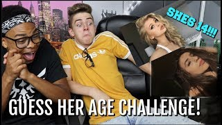 GUESS HER AGE CHALLENGE *IMPOSSIBLE* w/ DangMattSmith | Bruhitszach