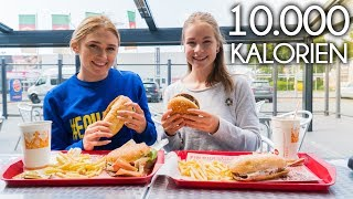 10.000 KALORIEN CHALLENGE | Epic Cheat Day | Girls vs Food