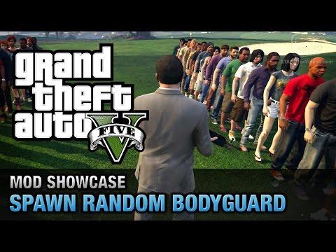 GTA 5 PC - Spawn Random Bodyguard [Mod Showcase]
