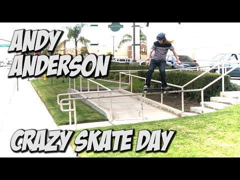 ANDY ANDERSON & VINNIE BANH CRAZY SKATE DAY !!! - NKA VIDS -