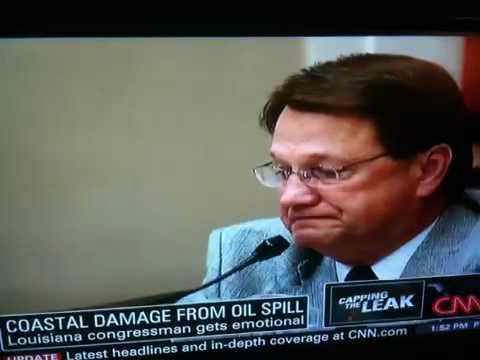 Louisiana Congressman gets emotional over gulf oil spill
