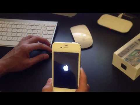Unboxing iPhone 4S, How to setup for the first time. Siri reviews.