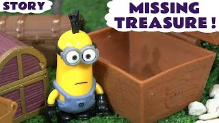 Minions Funny Stolen Treasure Toy Story with Thomas and Friends and a Surprise Egg ToyTrains4u