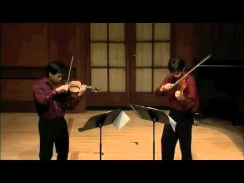4th mov of Prokofiev Duo Sonata in C major- Nikki and Timothy Chooi