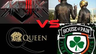 Skrillex Video - Skrillex vs Daft Punk vs Queen vs House Of Pain - Skrillex Rock (Loo & Placido vs DJ Hero Bootleg)