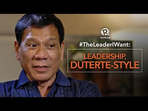 #TheLeaderIWant: Leadership, Duterte-style
