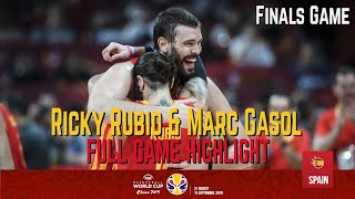 Ricky Rubio & Marc Gasol Highlight Spain vs Argentina FIBA World Cup Final Game, Sep.15 2019