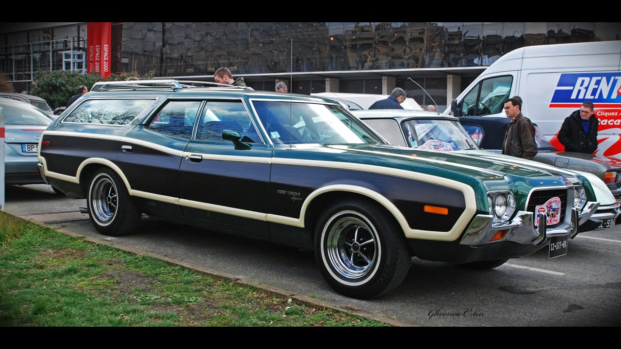 ford gran torino station wagon 39 1972 39 paris youtube. Black Bedroom Furniture Sets. Home Design Ideas