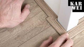 Platte plint leggen bij laminaat vloeren viyoutube for Karwei plinten