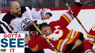 GOTTA SEE IT: Zack Kassian Ragdolls Matthew Tkachuk After Taking Multiple Massive Hits