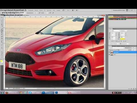 Как сделать фото авто в фотошопе