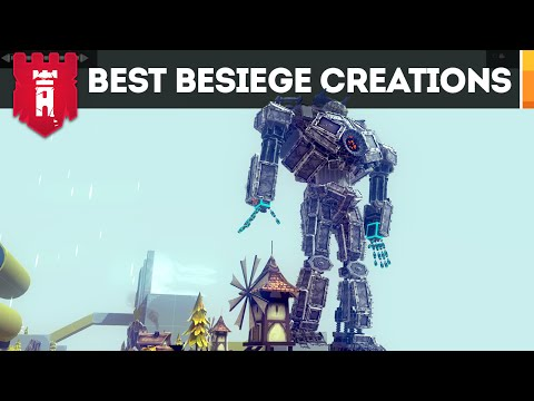 Besiege Creations - GIANT ROBOT, Audi R8 and Ikea Furniture (Revenge of the Workshop EP 2)