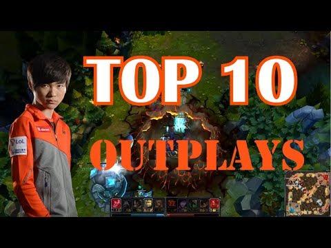 TOP 10 MEJORES OUTPLAYS de league of legends