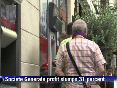 Societe Generale profit hit by Greek debt, shares slump
