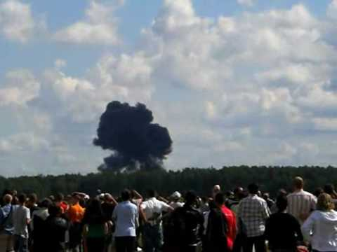 Radom katastrofa Crash  Su-27 Air Show  Poland
