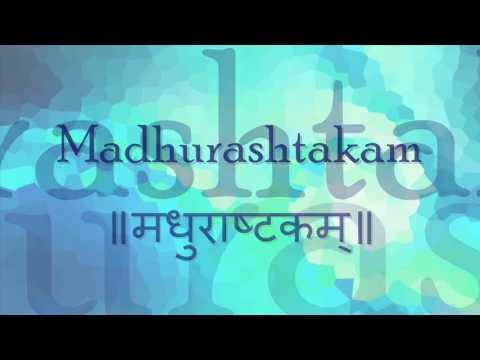 Madhurashtakam (adharam Madhuram) - With English Lyrics And Meanings. video