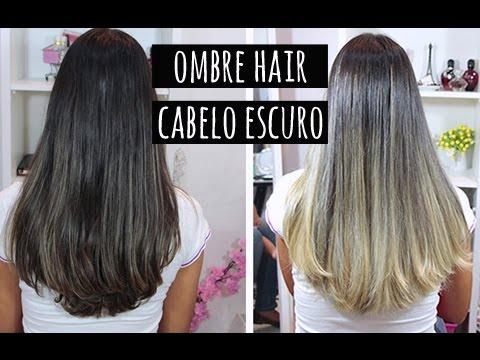 Técnica de Ombre Hair em cabelo escuro. Por Tatiana Lobo