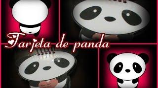 ♥Tarjeta De Panda♥ Ideal Para Este 14 De Febrero♥ Muy Fácil
