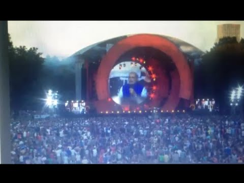 India PM Narendra Modi Speech at Global Citizen Festival , Central Park, New York Sept 27, 2014