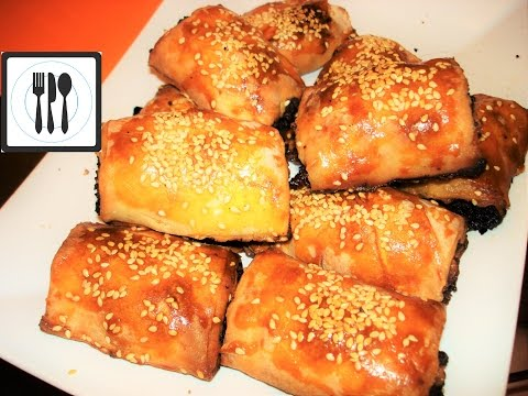 Самый вкусный Турецкий бёрек с мясом. Пироги из Юфки. Видеорецепт/Kiymali rulo borek tarifi