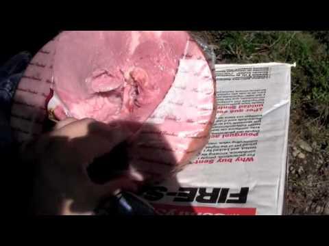 10MM VS 357 MAGNUM VS Hams wrapped in denim