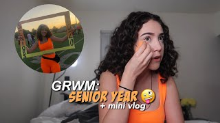 GRWM: FIRST DAY OF SCHOOL  *senior year* 🥳
