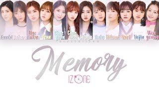 IZ*ONE (아이즈원) - Memory (비밀의 시간) [HAN|ROM|ENG Color Coded Lyrics]